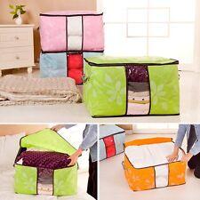 Large Thick Fiber Clothes Quilt Blanket Zip Foldable Storage Bag Box Organizers