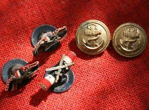 Konvolut 5 Uniform Knöpfe 3 x kaiserlich dt. Heer vor 1918 2 x Kriegsmarine 1940