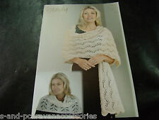 Wendy Ladies Shoulder Warmer and Wrap Celeste DK Yarn Knitting Pattern 5919