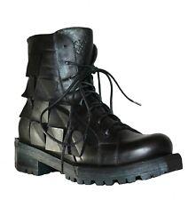 Combat Stiefel, Papucei, Boots, Leder, Black, Gr. 36, 37, 40, Schwarz, Damen