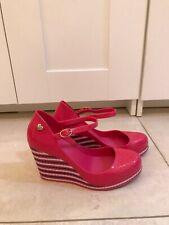 Melissa Hot Pink Wedge Pumps Size 38 EU 5 UK