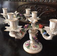 Pair of Dresden Porcelain Candelabras German