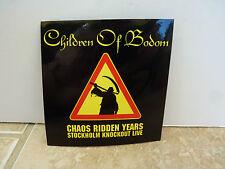 "Children of Bodom Chaos Ridden Years RARE Luggage 4"" Sticker PROMO 2006 #2"