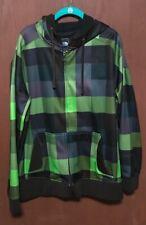 The North Face Zip Up Black & Green Hoodie Sweatshirt Sz L TUB7 EXCELLENT