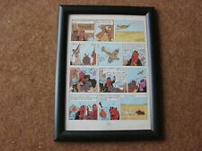 "Tintin - Land of Black Gold - ""Leaflets"" - mounted & framed page"