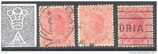 VICTORIA, 1905 1d (wmk Crown over A) rose-red, pale rose, rose-carmine (D)