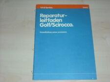32967) VW Golf Scirocco Reparaturleitfade Prospekt 1979
