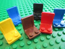 Lego QTY 6 x Seats Chairs Space Friends Star Clone Wars City Town Alien Conquest