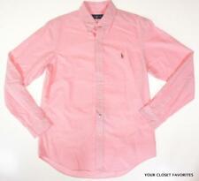 RALPH LAUREN Men's Pink Button Down Shirt size MEDIUM w/ Logo