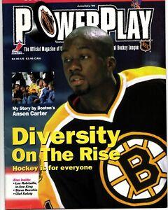 NHL POWER PLAY NHLPA MAGAZINE ANSON CARTER COVER JUNE/JULY 1999