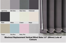 ⭐BLACKOUT vertical blind SLATS REPLACEMENTS ⭐ in GREY, WHITE & BLACK FREE P&P⭐