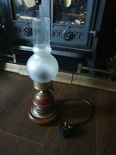 Vintage Electric Oil Parrafin Style Table Lamp