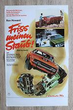 orig Kino Plakat - Friss meinen Staub Eat my dirt 1976 Ron Howard Oldtimer Cars