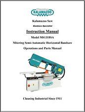 Kalamazoo Ms1318sa Semi Auto Mitering Saw Operations And Parts Manual