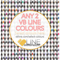 VB™ Line Any 2 Colours Nail Gel Polish - Top and Base coat available Starter set