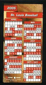 St Louis Cardinals--2005 Hang-it Style Magnet Schedule