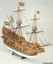 "Classic, Detailed Wooden Model Ship Kit by Mamoli: the ""Roter Lowe"""