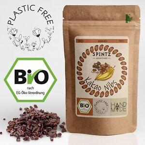 1kg Bio Kakaonibs - Kakao Nibs roh, gebrochene Kakaobohne | Kakaobohnensplitter