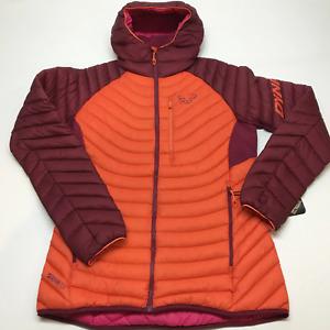 Dynafit Radical down hooded jacket womens medium 2021 beet red