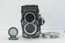 Rolleiflex 2.8F White face 12x24 Planar TLR Film Camera with Cap & New Strap