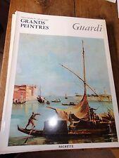 Guardi art book grands peintres chef-d'oeuvre de l'art Guardi 8 livres Hachette