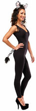 Morris Costumes Women's Faux Fur Zebra Headband And Tail Kit One Size. MR158052