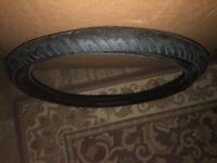 24 x 3  bicycle tire BLACK MOTORCYCLE TREAD SLICK CHOPPER RAT ROD NEW UNUSED
