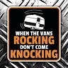 When the vans rocking  - don't come knocking vw camper caravan car sticker