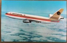 Vintage Continental DC-10 Airline, Airplane - Postcard