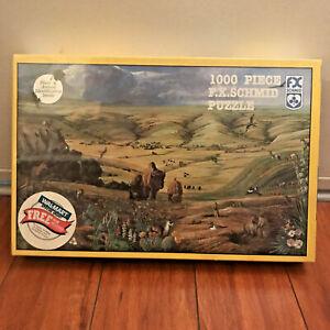 Vintage F.X. SCHMID North American PRAIRIE VANISHING VISTA 1000 Pc Puzzle NEW 93