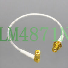 "SMA Bulkhead to RA SSMA Male RF Coax cable SV Microwave WPA Wireless AP RG316 6"""