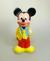 Vintage Mickey Mouse Shampoo Flasche (ohne Inhalt) Figur ca. 22 cm Disney RAR