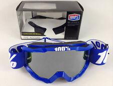 100% Percento Accuri Mx Motocross Occhiali di Protezione Reflex Blu con Argento