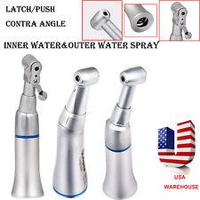 Dental Slow Low Speed Handpiece Pushlatch Contra Angle Innerexternal Spray Fda