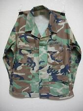 WOODLAND CAMO BDU UNIFORM SHIRT, TWILL, MEDIUM-REGULAR, USED