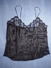 Vintage Neiman Marcus Adagio 100% Silk Lace Trim  Camisole Size Petite in Black