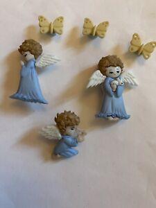 Christmas Festive Cherished Angels Praying Butterflies  Children's Cake Decs