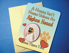 """""""A House Isn't Home"""" - Afghan Hound - Greeting Card/Blank Note Card - sku# Ah-61"""