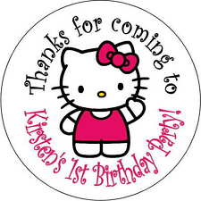 12 hello kitty stickers Birthday Party loot bag 2.5 Inch Personalized shower