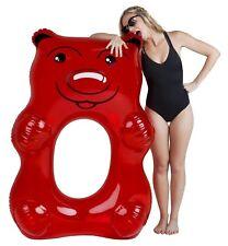 BigMouth Inc. Giant 5 Feet Red Gummy Bear Inflatable Pool Float Raft Tube NIB