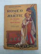 SHAKESPEARE Roméo et Juliette Aquarelles de BERTY éd. Nilsson