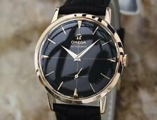 Omega 18k Solid Rose Gold Calibre 491 34mm 1960s Swiss Made Automatic Watch LV66
