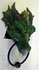 NEMESIS NOW DRAGON HEAD DOOR KNOCKER - WILDLIFE ANIMAL FIGURE MODEL OR ORNAMENT