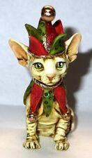 Harmony Kingdom artist Neil Eyre Designs Sphynx kitten cat Elf Jester Bell hat