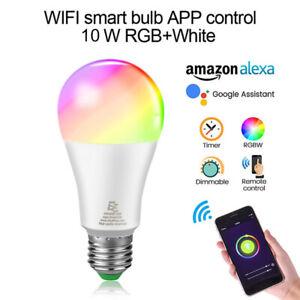 LED WiFi Smart Bulb works w Amazon & Google Voice Control, 10W, Full Color Range