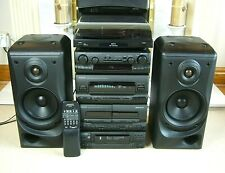 Quality Kenwood Hi-Fi System with Speakers and Bush Turntable
