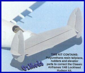 1/48 OZMODS; Lockheed Hudson Tail Correction (Classic Airframes)