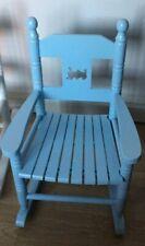 Children's Wooden Blue Rocking Chair