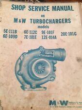 M&W Turbo Shop Service Repair Manual Rajay Farmall Ih Deere Jd Case Moline