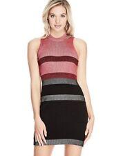 GUESS Women's Sleeveless Merina Plaited Stripe Dress, Size Large